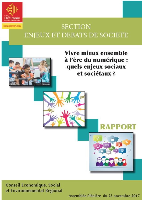 Occitanie - CESER - Assemblée plénière - Numérique - enjeux sociaux