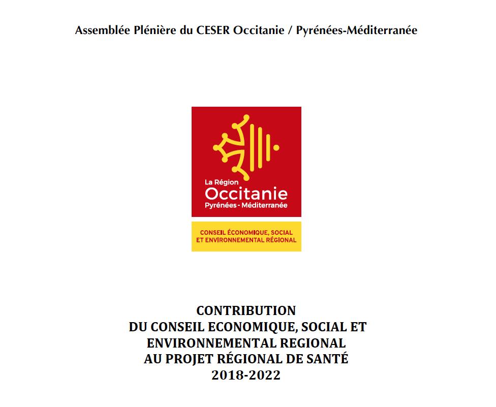 Contribution au Projet Régional de Santé (PRS) 2018-2022