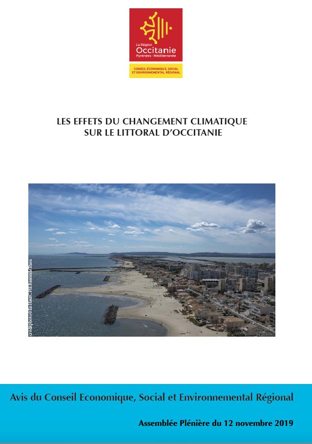 Avis – AVIS DU CESER SUR LES EFFETS DU CHANGEMENT CLIMATIQUE SUR LE LITTORAL D'OCCITANIE